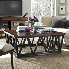 Clearance Stanley Avalon Heights Chelsea Empire Cocktail Table OVFCR121728