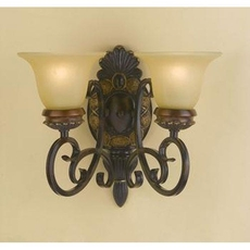 Clearance AF Lighting Round Table 2-Light Wall Sconce OVFCR121758
