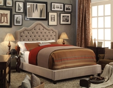 Alton Alisa Hand Tufted Upholstered Queen Platform Bed in Mocha