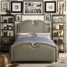 Alton Eilo Linen Upholstered Queen Bed in Cafe