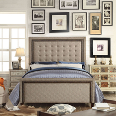 Alton Hidalgo Cafe Tufted Upholstered Queen Bed