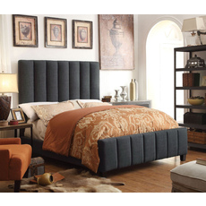 Alton Isabel Linen Upholstered Queen Bed in Charcoal