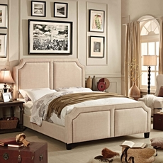 Alton Sanibel Linen Upholstered Queen Bed in Beige