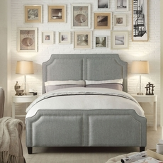 Alton Sanibel Gray Upholstered Queen Bed