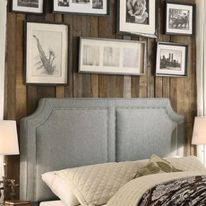 Alton Sanibel Linen Upholstered Queen Headboard in Gray