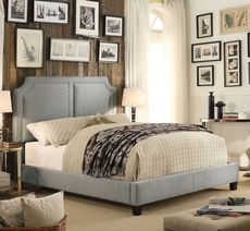 Alton Sanibel Gray Upholstered Queen Platform Bed