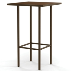 Amisco Aden Wood Top Bar Height Dining Table