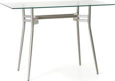 Amisco Anais Rectangular or Square Glass Top Counter Height Table