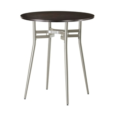 Amisco Anais Round or Square Wood Top Bar Height Table