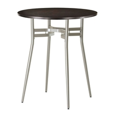 Amisco Anais Round or Square Wood Top Counter Height Table