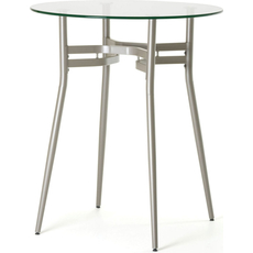 Amisco Anais Round Glass Top Counter Height Table