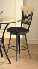 Amisco Annabelle 26 Inch Swivel Counter Stool