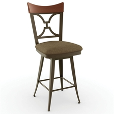 Amisco Brandy 26 Inch Swivel Counter Stool