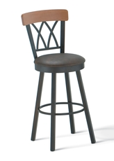 Amisco Brittany 30 Inch Swivel Bar Stool