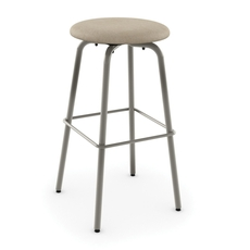 Amisco Button 30 Inch Swivel Bar Stool with Upholstered Seat