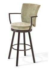 Amisco Cardin 30 Inch Swivel Bar Stool