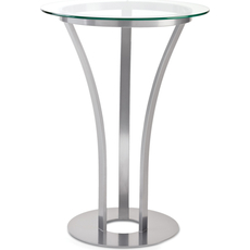 Amisco Dalia Round or Square Glass Top Bar Height Table