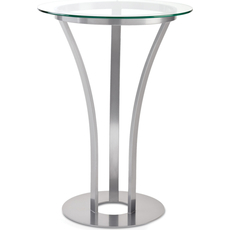 Amisco Dalia Round or Square Glass Top Counter Height Table