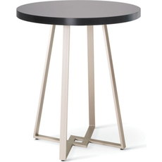 Amisco Dirk Round or Square Wood Top Bar Height Table