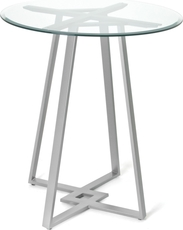 Amisco Dirk Round Glass Top Counter Height Table