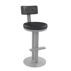 Amisco Empire 26 Inch Swivel Stool