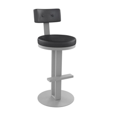 Amisco Empire 30 Inch Swivel Stool
