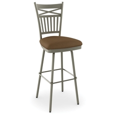 Amisco Garden 34 Inch Swivel Counter Stool