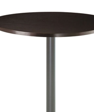 Amisco Judy Round or Square Wood Top Bar Height Table