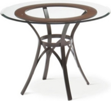 Amisco Kai Round Glass Top Dining Table