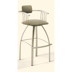 Amisco Kris 24 Inch Swivel Counter Stool