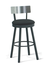 Amisco Lauren 34 Inch Swivel Bar Stool with Steel Backrest