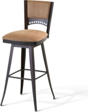 Amisco Lilly 34 Inch Swivel Bar Stool