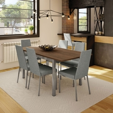 Amisco Linea 7 Piece Dining Set with Alley Table