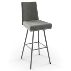 Amisco Linea 26 Inch Swivel Counter Stool