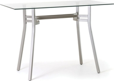 Amisco Matis Rectangular Glass Top Counter Height Table