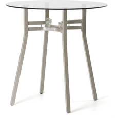 Amisco Matis Round or Square Glass Top Bar Height Table