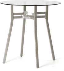 Amisco Matis Round or Square Glass Top Counter Height Table