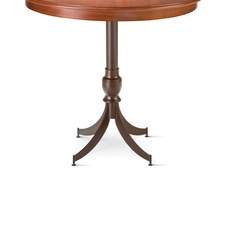 Amisco Penelope Round or Square Wood Top Bar Height Table
