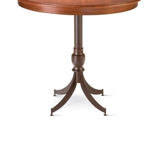 Amisco Penelope Round or Square Wood Top Counter Height Table