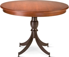 Amisco Penelope Round or Square Wood Top Dining Table