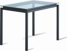 Amisco Robert Rectangular Glass Top Counter Table