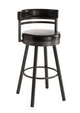 Amisco Ronny 34 Inch Swivel Bar Stool