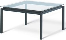 Amisco Spencer Square Glass Top Dining Table