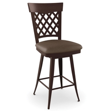 Amisco Wicker 34 Inch Swivel Counter Stool