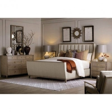 A.R.T. Furniture Cityscapes Chelsea Upholstered Shelter Sleigh King Bedroom Set