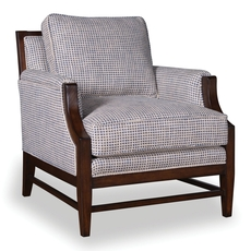 A.R.T. Furniture Bristol Linen Accent Chair with Tapered Wood Legs