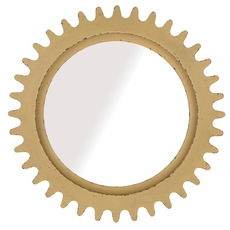 A.R.T. Furniture Epicenters Williamsburg Round Mirror with Yellow Finish
