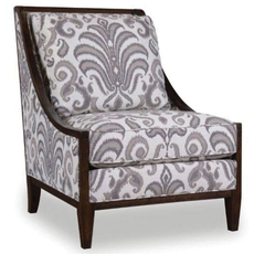 A.R.T. Furniture Morgan Charcoal Wood Frame Accent Chair