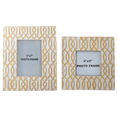 Signature Design by Ashley Baina Yellow and White Photo Frame Set of 2