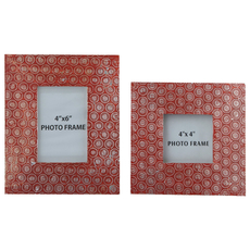 Signature Design by Ashley Bansi Orange Photo Frame Set of 2